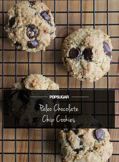 Decadent chocolate chip cookies that are vegan and Paleo!