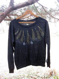 birds of a feather Peacock Slouchy Pullover in by nicandthenewfie, $34.00