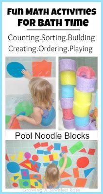 Fun Math Activities ~ Bath Activities for Kids