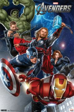 For Escort Card Table, 'Avengers Assemble Inside for a Great Party! (Justice League Also Welcome) Avengers - Group Poster