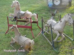 How to make a carousel horse from old wonder horse! So excited about the possibilities of this