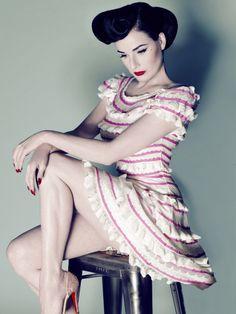 Dita, my flawless queen. #dita_von_teese