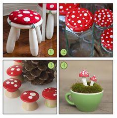 4 Woodland Mushroom Crafts