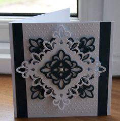 Simple black & White spellbinders card