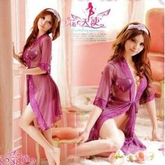 Succubus Sexy Sleepwear Woman Purple Lace Partywear Lingerie Teddy See Through Babydoll Long Robe Small Medium --- http://www.amazon.com/Succubus-Sleepwear-Partywear-Lingerie-Babydoll/dp/B008OBBJE8/?tag=zaheerbabarco-20