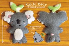 Koala Bear Felt Plush by buttifly