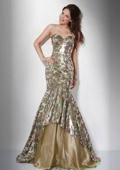 camo print prom dress