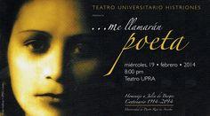 En el Centenario de la poetisa puertorriqueña  Julia de Burgos