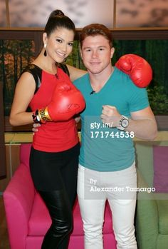 News Photo: Ana Patricia Gonzalez and Saul Canelo Alvarez appear…