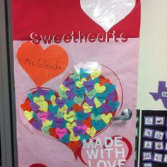 Our school door decorated for Valentines.