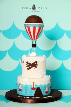 Jessicakes hot air balloon cake