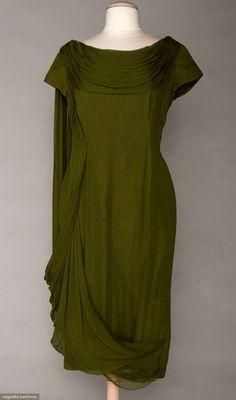 MADAME GRES CHIFFON EVENING DRESS, 1960