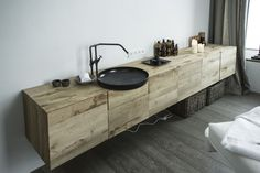 sink detail for spa room | hotel wiesergut | by gogl architekten