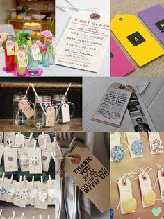 Luggage Tag Wedding Ideas from The Wedding Community