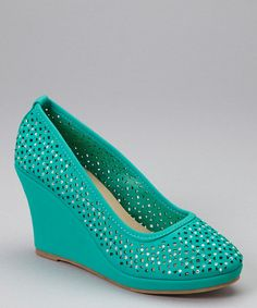 Teal Rhinestone Wedge #zulily #zulilyfinds