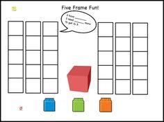 Five Frame Fun- I have ___. I need ____ more to make 5.