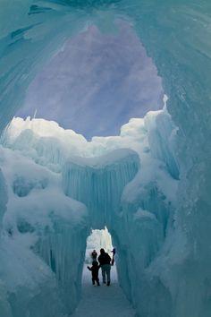 ice caves.