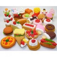 iwako eras, mini foods, assort food, school suppli, cake desserts, food eras, japanes eras, back to school, food cakes