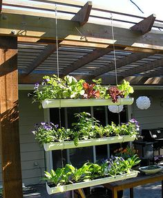 Hanging gardens with gutters