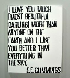 ee cummings I love you much