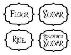 Food Storage labels