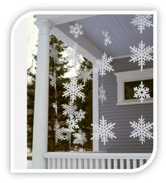 Homemade outdoor snowflakes here is a homemade christmas decoration