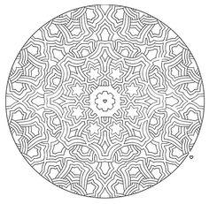 Mandala 585, Mandala Mazes Coloring Book, Dover Publications