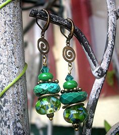 Lampwork, Turquoise,
