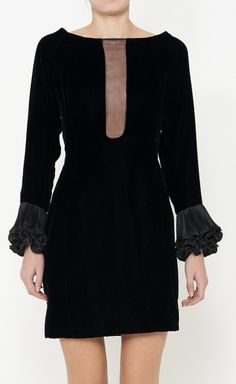 Night By Valentino Black Dress