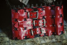Red Corset Belt by HELLinLEATHER on Etsy, $85.00