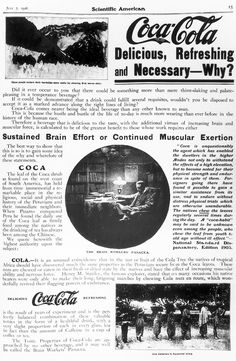 Coke was originally marketed as a cure to many ailments including low sexual libido.