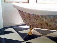 #DIY mosaic tub Paging Versace!