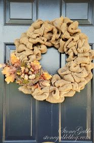 StoneGable: BURLAP WREATH TUTORIAL
