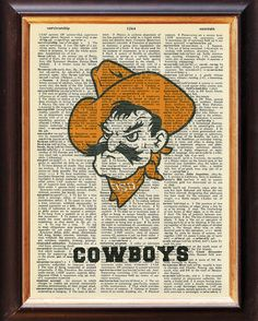Oklahoma State University  Cowboys Upcycled by Etymologies, $8.95