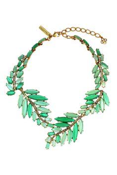 Oscar de la Renta Marquise Leaf Necklace