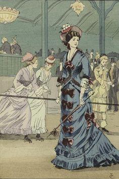 roller skating ensembles from Paris, 1876.