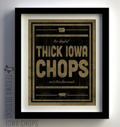Iowa Pork Chops -  print by Texowa Designs