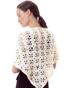 Free knitting pattern - Lily Floral Shawl - Patterns  | Yarnspirations