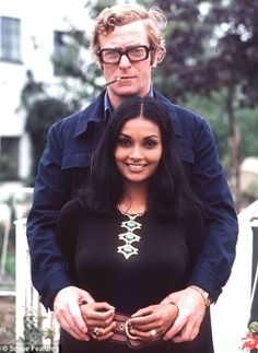 One of my favourite actors, Michael Caine, and wife Shakira Baksh, 1973