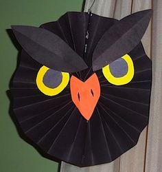 hanging art, hanging decorations, decoration crafts, owl crafts, halloween crafts, paper crafts, craft decorations, paper decorations, kid