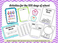 Activities for the 100th days of school.