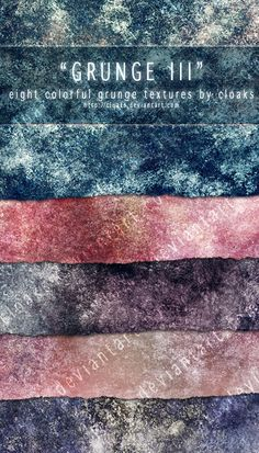 Grunge III Texture Pack by cloaks.deviantart.com // 8 Free textures
