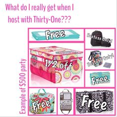 What do I really get when I host a Thirty-One party? $500 example