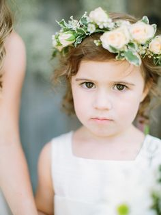 sweet flower girl, photo by When He Found Her http://ruffledblog.com/brooklands-farm-wedding #wedding #bridalparty #flowergirl