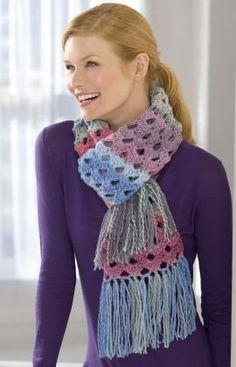 Shaded Shells Crochet Scarf Crochet Pattern