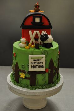 barnyard cake #kids #party #birthday
