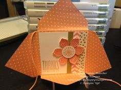 Stampin Up hip notes thank you card from Envelope Punch Board