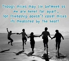 This quote and pic makes me think of my brother and sister so many miles away. Sometimes life isn't fair.