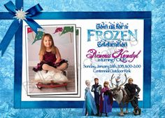Printable Disney's Frozen Birthday Invitation on Etsy, $12.00