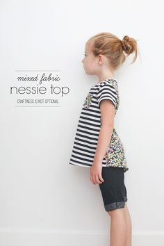 mixed fabric Nessie top // craftiness is not optional